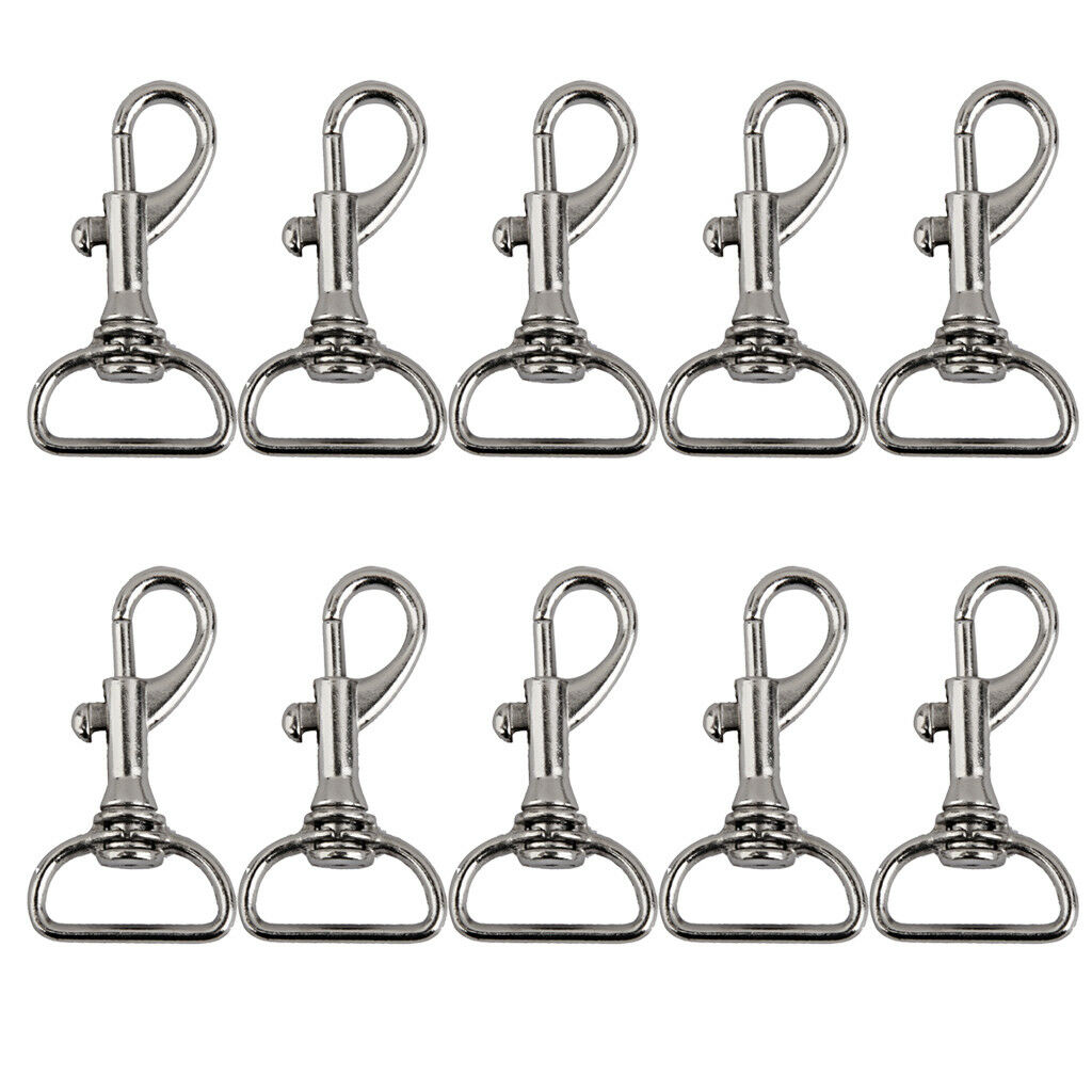 10 Swivel Clips Snap Hooks Lobster Clasp for Keychain Bag Craft 20mm