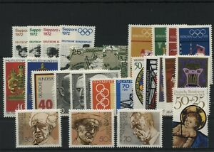 Federal-Frg-1971-1978-All-Block-Stamps-from-Block-6-17-Mint-MNH