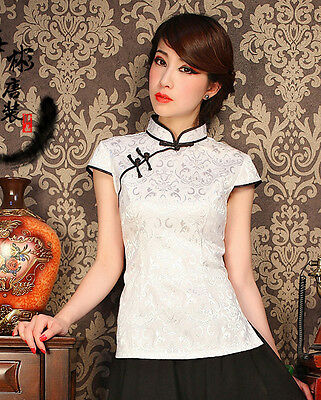 Chinese Traditionary Style Women's Girl Casual Shirt Blouse Tops M L XL XXL