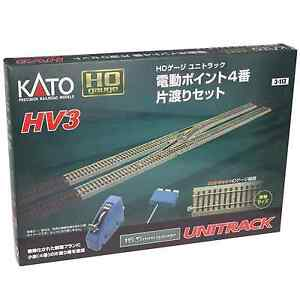 Kato-3-113-HV3-Interchange-Track-Set-With-4-Electric-Turnout-HO