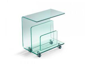 Beistelltisch Mit Zeitungsstander ~ Nicola beistelltisch couchtisch glas glastisch tisch