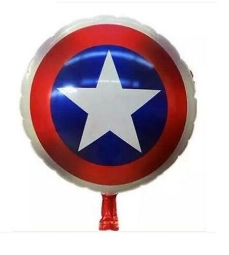 """Capitão América 18/"""" Balões De Alumínio Hélio Super Herói Vingadores Festa Aniversário Tema"""
