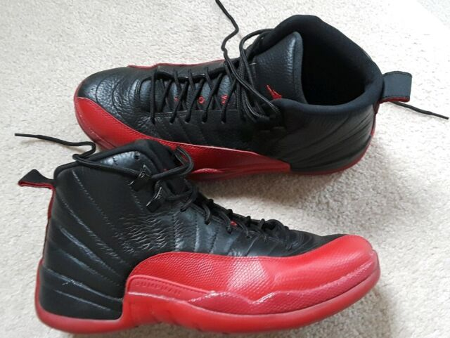 save off 14f02 1d06f sz 10 Mens Nike Air Jordan 12 XII Retro Flu Game Blk Red 130690-002 shoes  44 mj