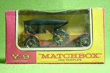 Modellauto - Matchbox - Models of Yesteryear Y-9 - 1912 Simplex v2 - OVP