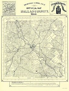 Old Dallas Map.Old County Map Dallas Texas Landowner Murphy 1886 23 X 30 29