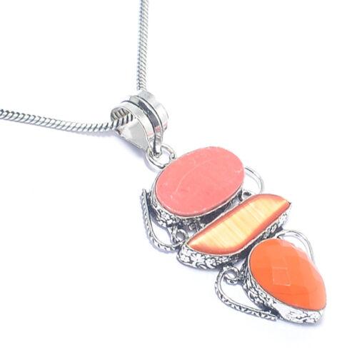 Christmas!!!Free Shipping mix-Stone 925 Silver Gemstone Jewelry Pendant