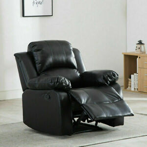 Leather Recliner Chair Modern Armchair Overstuffed Lounge Sofa Home Seating