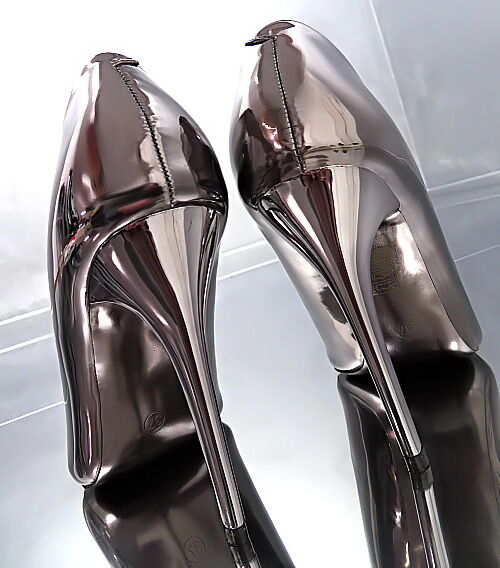 HOHE Heels Damen Pumps Elegant Classic Sexy High Heels HOHE O28 Schuhe Platinum 36 c1b57c