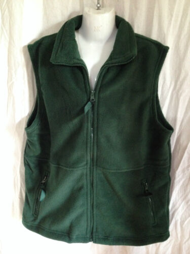 BNWT Boys or Girls Sz 14Y LW Reid Brand Bottle Green Polar Fleece School Vest