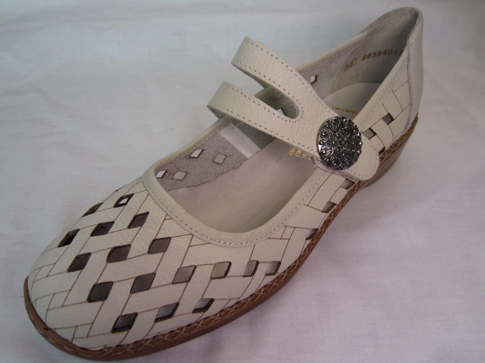 Rieker '41375-80' '41375-80' Rieker Ladies White Leather Summer Shoes bfaa85