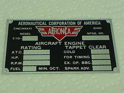 Acid Etched Aeronca Style Aircraft Baggage Compartment Neat Aluminum