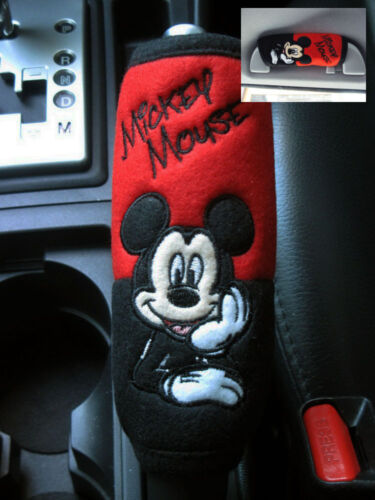Handle Cover #Red,Black Side Brake Hand Brake Mickey Mouse Car Accessory #C