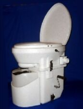 NATURE'S HEAD COMPOSTING TOILET STANDARD HANDLE WHITE GRANITE NEW BOAT RV HOME