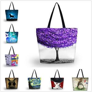 New-Hot-Women-039-s-Large-Capacity-Zipper-Handbag-Shopping-Tote-Shoulder-Beach-Bags