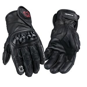 WFX-Short-Leather-Best-Knuckle-Protection-Motorbike-Motorcycle-Gloves-Racing