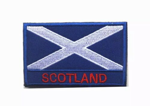 50x80mm Scotland Flag Embroidery Hook /& Loop Velcro