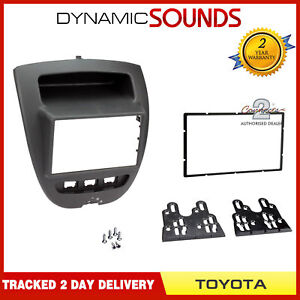 CT23TY23 Car Stereo Radio Double DIN Facia Panel Black for Toyota Aygo 2005-2014