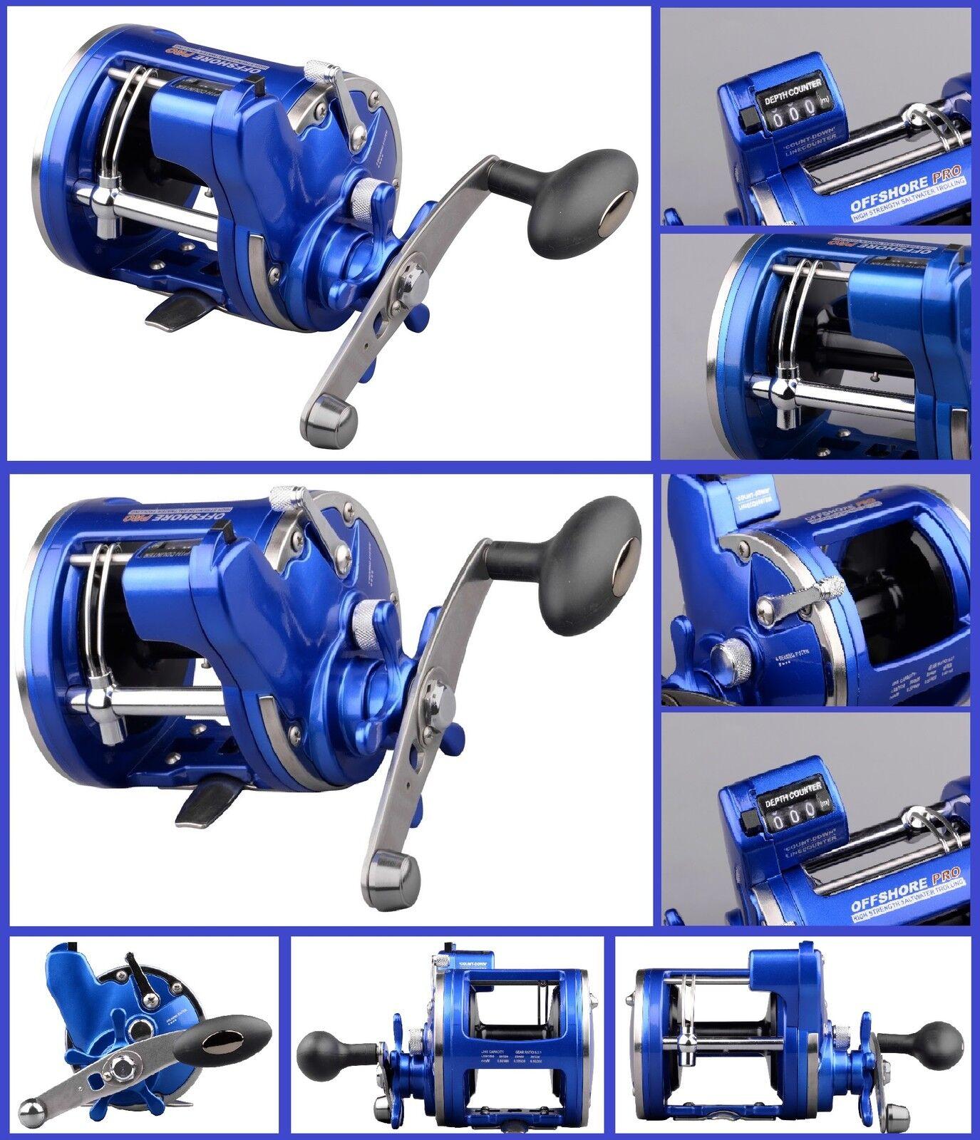 Spro Offshore Pro Blau 4300 4500 Zählwerk RH Rechtshand Multirolle Meter Zählwerk 4500 NEW OVP 120636