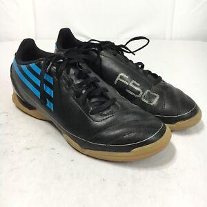 3228cdc1f Adidas F50 Men's 6 Black Blue Indoor Soccer Non Marking Athletic Gym ...