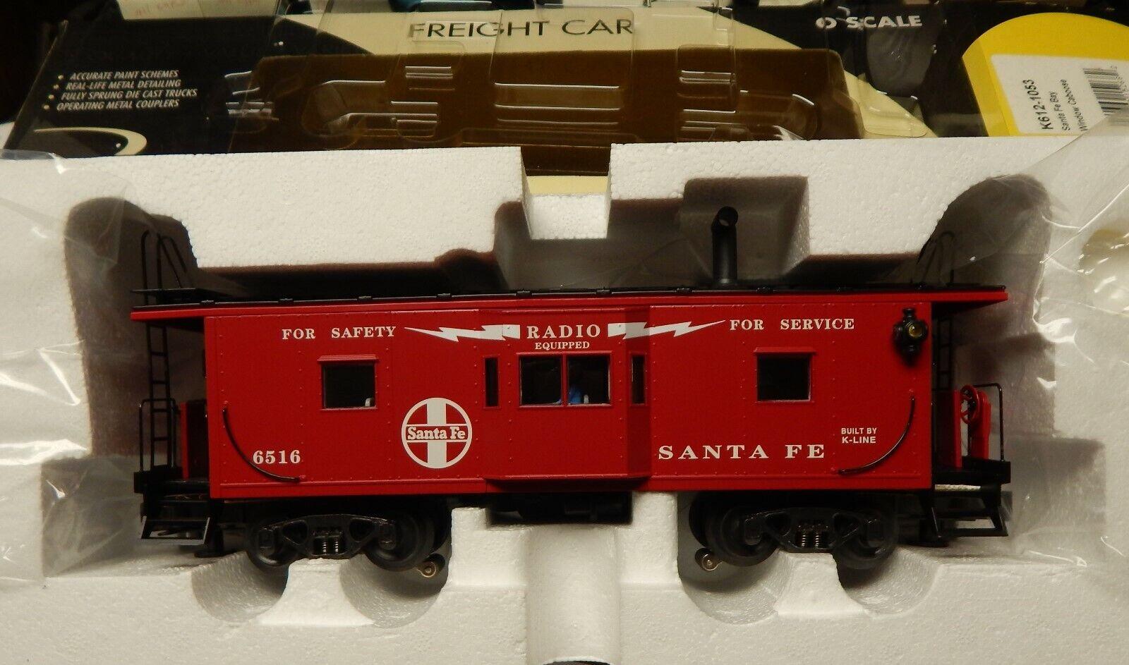 K-LINE K612-1053 SANTA FE BAY WINDOW CABOOSE NIB O SCALE LQK