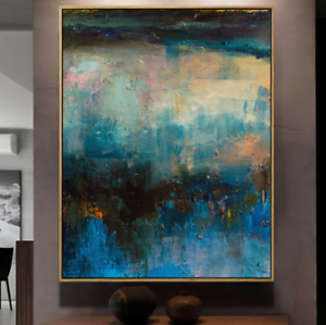 YA973 Modern 100/% Hand-painted Abstract Scenery oil painting On canvas Color