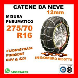 265 R15 KIT COPPIA CATENE DA NEVE OMOLOGATE V5117 9 MM GRUPPO 140 GOMME