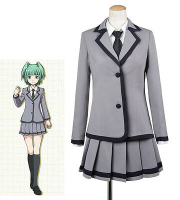 Assassination Classroom Kaede Kayano School Girl Student Uniform Costume Cosplay