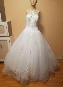 unbranded Wedding Dress size 9-10 halter ball gown Crinilin ...