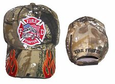 Fireman Fire Fighter Fire Department Camo  Baseball Caps Embroidered  (E7501F9 )