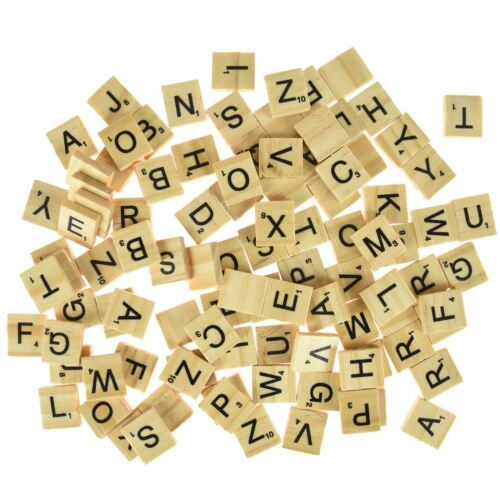 100pc wooden Scrabble Tiles
