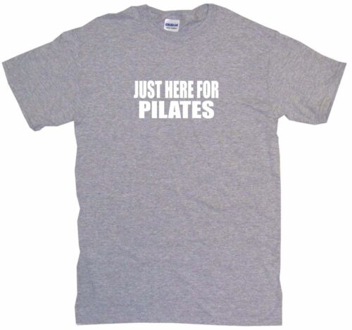 Just Here For Pilates Mens Tee Shirt Pick Size Color Small-6XL