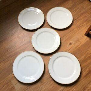 VTG THOMAS BAVARIA 599 white gold rim and verge dinner  Plates set of 5