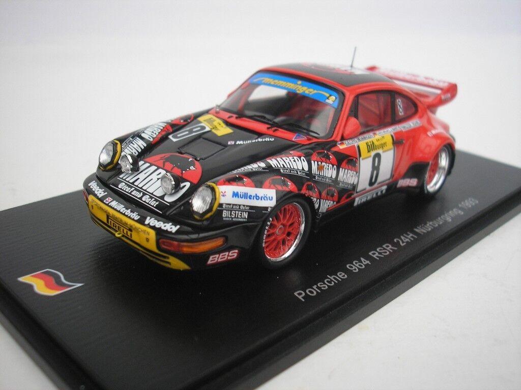 Porsche 911 964 Rsr Ore Nürburgring 1993 W.Rohrl 1 43 Spark Sg016 Nuovo