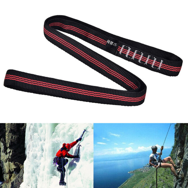 25KN Safety Rock Tree Climbing Express Quickdraw Sling Webbing Rope StrapCordOET