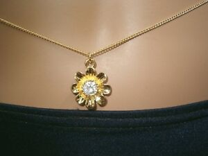 Gold-gep-Daisy-Sunflower-USA-designer-Rhinestone-Crystal-Belly-Chain-One-Size