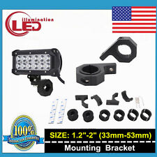 1.2''-2'' MOUNT BRACKET TUBE CLAMPS FOR LED LIGHT BAR OFF ROAD BULL BAR HID ATV