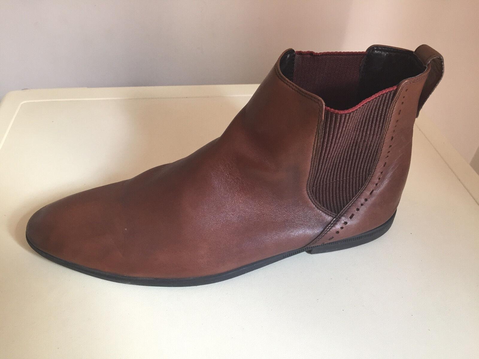 Para hombres Cuero Tostado tobillo CLARKS bota-Talla