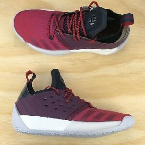 pretty nice 34f8f 5ed61 Image is loading Adidas-Harden-Vol-2-Red-Ruby-White-Mens-