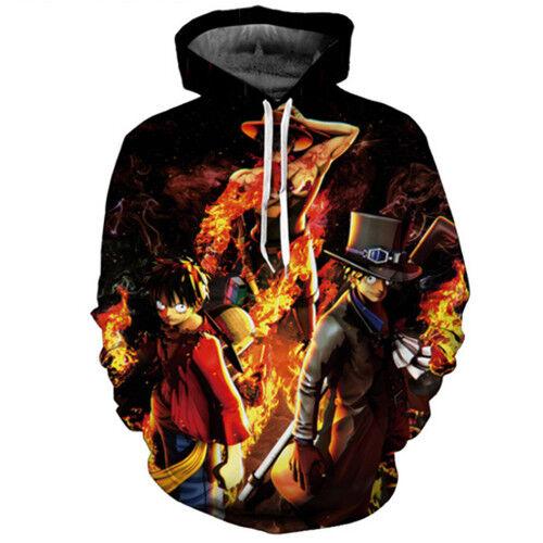 Fashion Women//Mens One Piece Anime 3D Print Casual Hoodies Sweatshirt Pullover