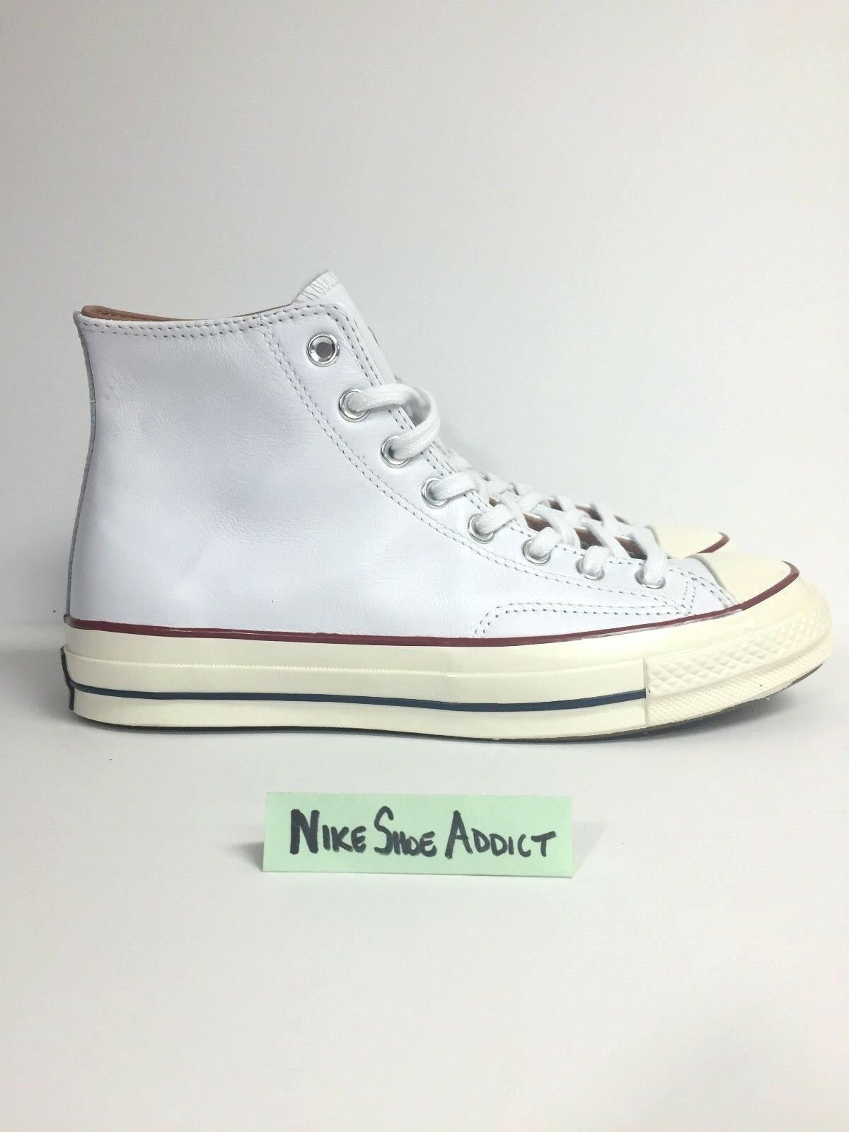 CONVERSE ALL STAR CHUCK TAYLOR HI LEATHER '70 WHITE EGRET 151154C UNISEX NEW