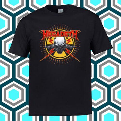 Megadeth American Metal Band Logo Black T-Shirt Size S M L XL 2XL 3XL