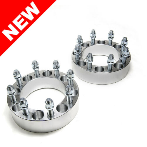 """2pc Custom Wheel Spacers Adapters 8X6.5 TO 8X6.5 14X1.5 2/"""" Inch 50mm"""