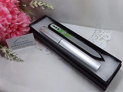Mont Bleu Czech Glass Nail File #17 Swarovski Elements Case Gift Box Guaranteed