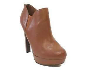 b7395072f8b Details about Material Girl Brown Ankle Boots ROSS Booties Women's Shoes US  7