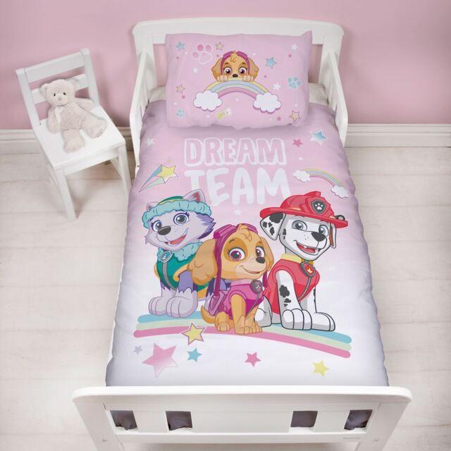 Offiziell Paw Patrol Junior Kleinkind Kinderbett Bettdecke Bettbezug Set Neu
