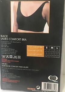 Black-Comfort-Bra-Soft-Seamless-V-Neck-Crop-Top-bra-NON-Padded-Wire-Free-bra