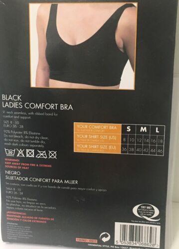 Black Comfort Bra Soft Seamless V-Neck Crop Top Bra NON Padded Wire Free Bra