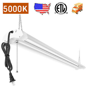 AntLux 8 Foot LED Shop Light Fixture Flush Mount Garage ...