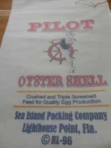 Rl 96 Pilot Oyster Shell Flour Bag Sack Feed Seed Novelty