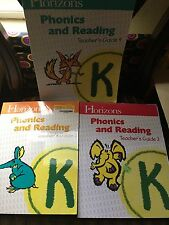 horizon phonic and reading grade k teacher manual for level 2,3, and 4